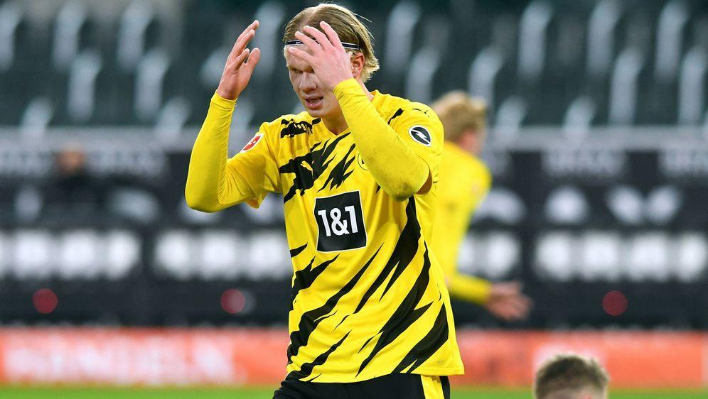Erling Haaland ist aktuell die einzige Konstante im Dortmunder Spiel. - Bildquelle: imago images/Uwe Kraft