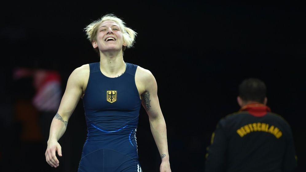 Ringerin Nina Hemmer kämpft um Bronze - Bildquelle: afpafpSIDILMARS ZNOTINS