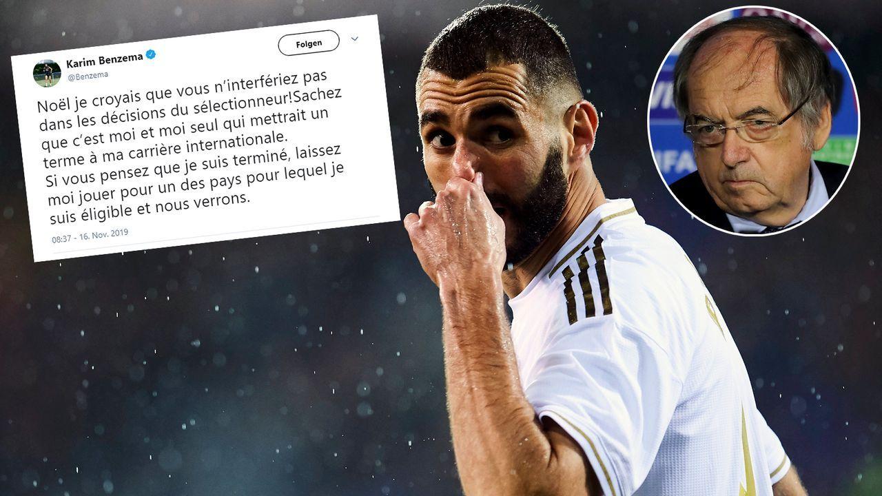 """""""Nur ich beende meine internationale Karriere"""": Benzema sauer auf Verbands-Boss - Bildquelle: Getty Images/twitter@Benzema"""