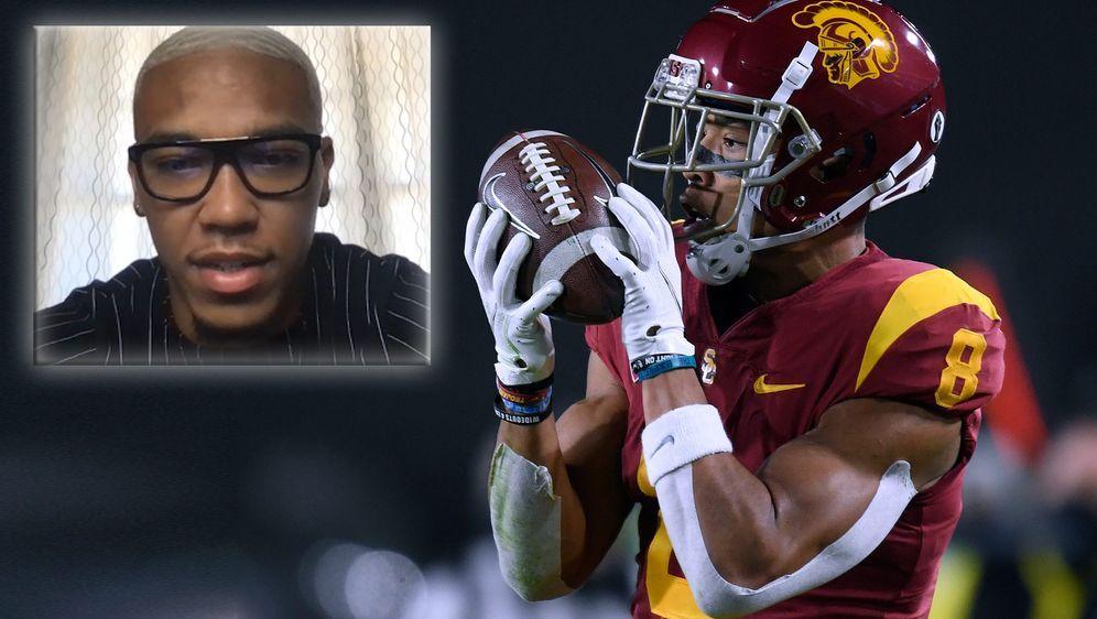 Amon-Ra St. Brown wird als Zweitrunden-Pick beim NFL-Draft 2021 gehandelt. - Bildquelle: Getty / ran