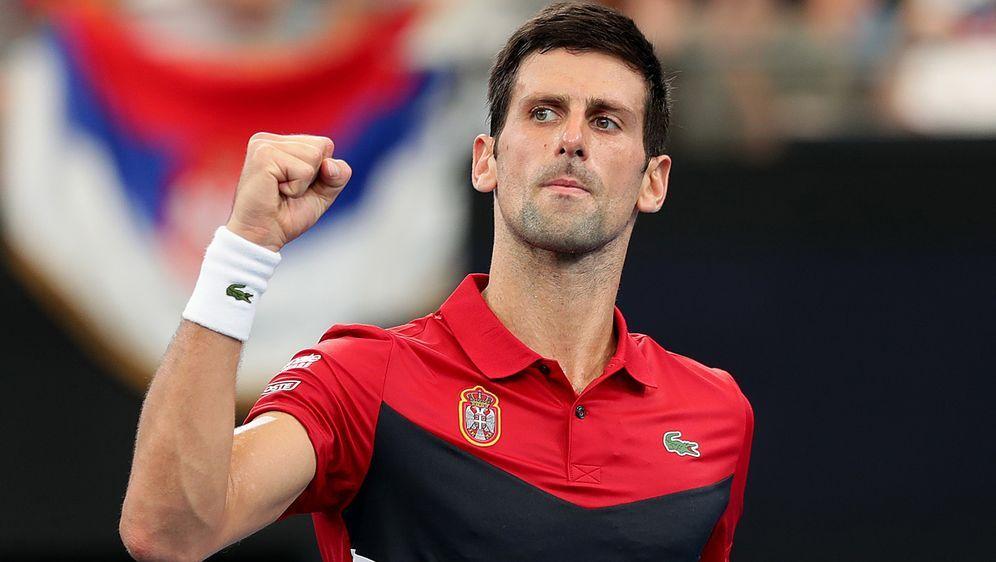 Novak Djokovic ist mit dem serbischen Team ins Halbfinale des ATP-Cup eingez... - Bildquelle: 2020 Getty Images