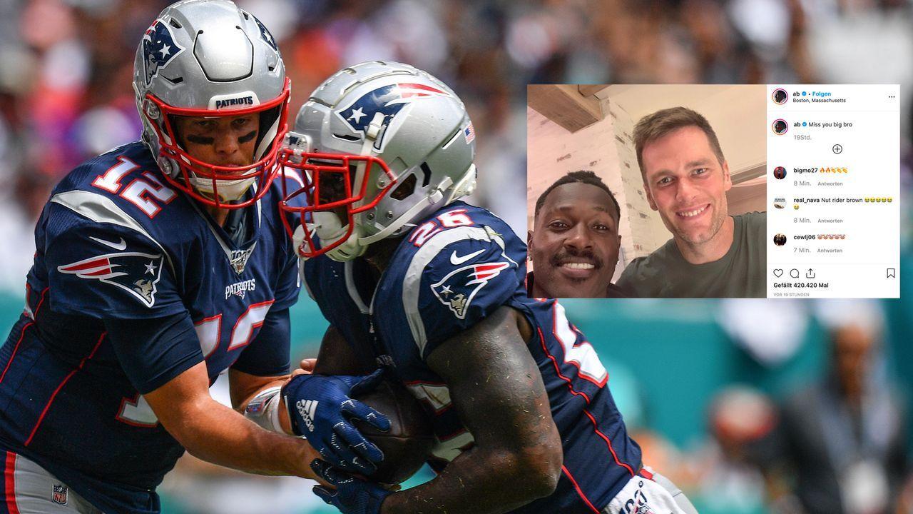 Flirt mit Patriots-Rückkehr? Antonio Browns Gruß an Tom Brady - Bildquelle: 2019 Getty Images