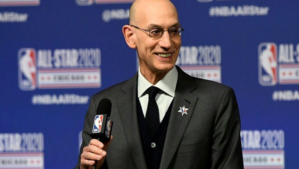 Viel Arbeit für NBA-Boss Adam Silver - Bildquelle: GETTY AFPSIDStacy Revere