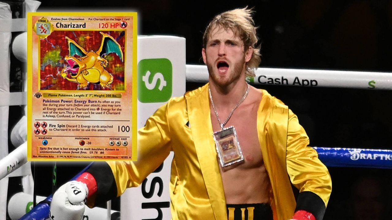 """Nach Fight gegen Mayweather: Youtuber Logan Paul prahlt mit """"1 Million Dollar""""-Pokemon-Karte - Bildquelle: imago/Instagram: @loganpaul"""