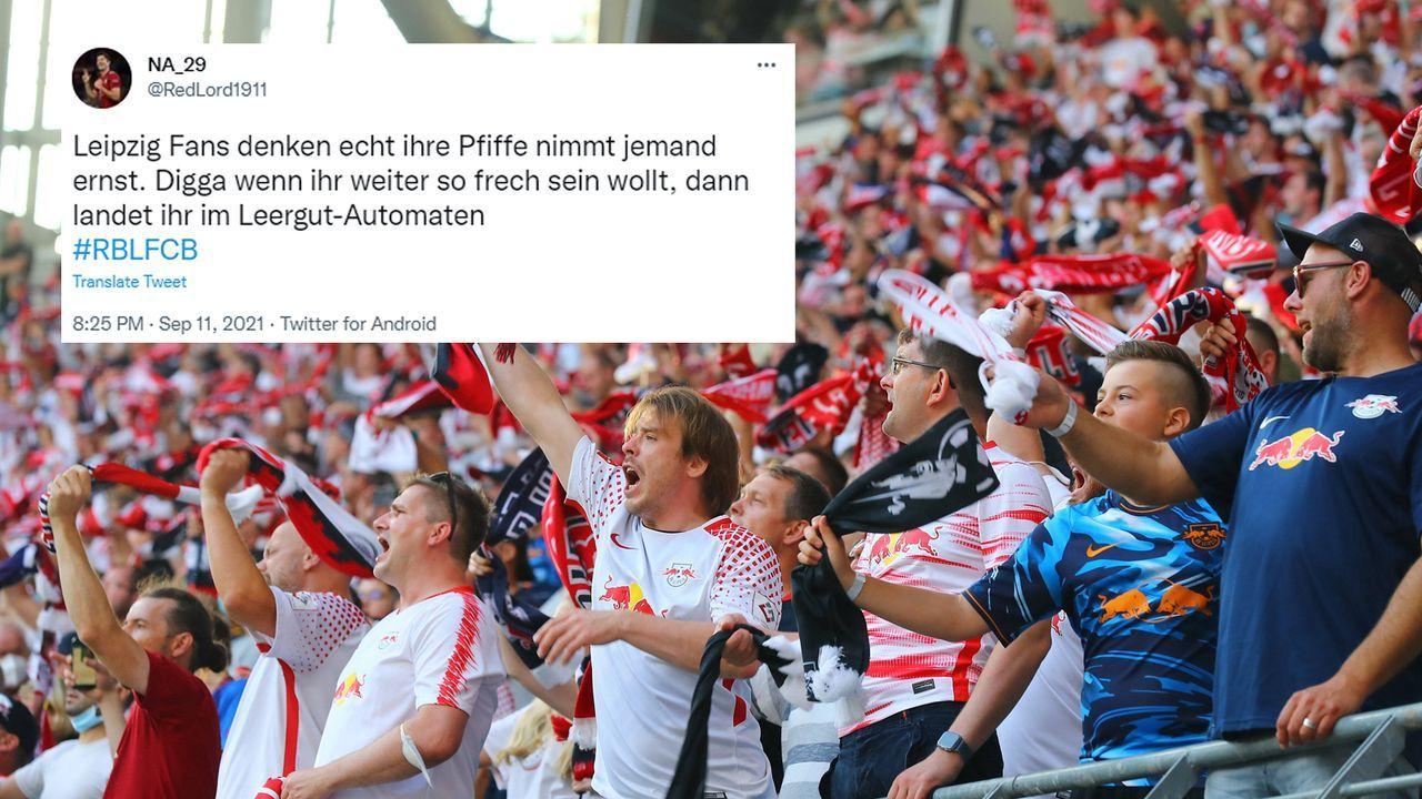 RB Leipzig Fans - Bildquelle: imago/twitter@RedLord1911