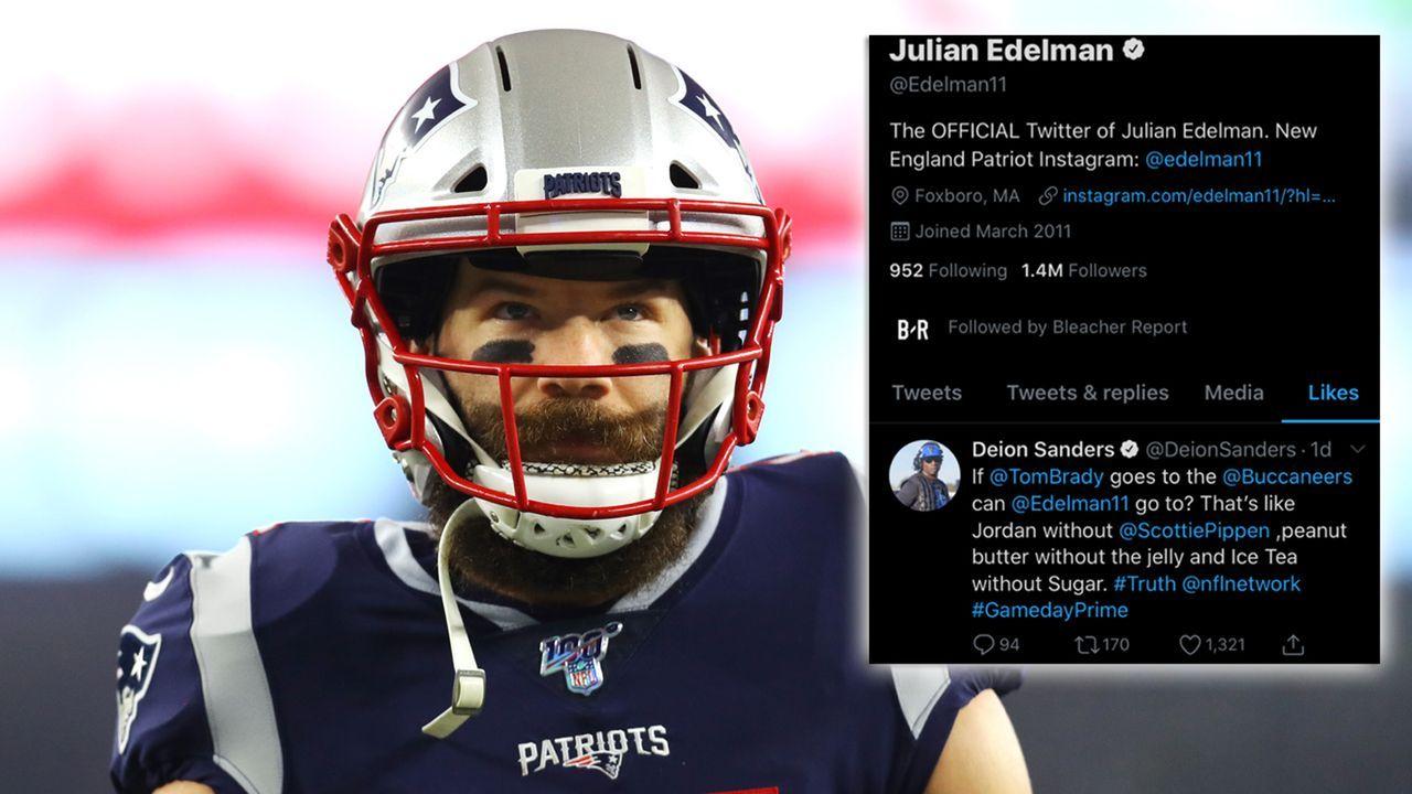 Folgt Edelman Brady? Patriots-Star liked Tweet, der einen Buccaneers-Wechsel vorschlägt  - Bildquelle: getty/twitter
