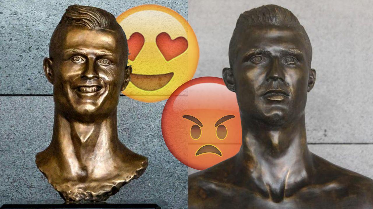 Austausch der Ronaldo-Büste sorgt für Ärger - Bildquelle: Getty Images