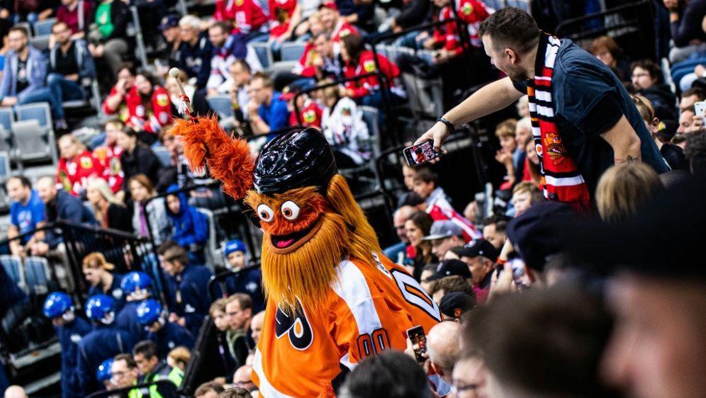 Das Maskottchen der Philadelphia Flyers: Gritty - Bildquelle: PIXATHLONPIXATHLONSID
