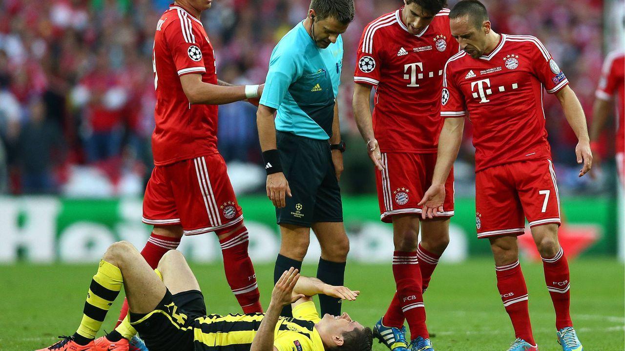 Ribery gegen Lewandowski (2013) - Bildquelle: imago