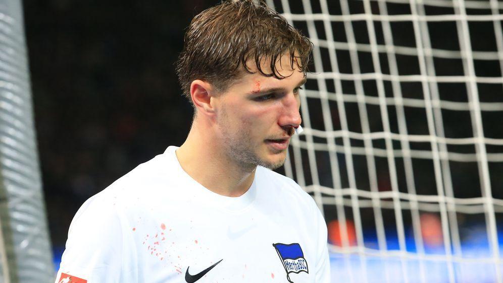 Niklas Stark erlitt gegen Leipzig einen Nasenbeinbruch. - Bildquelle: 2019 imago