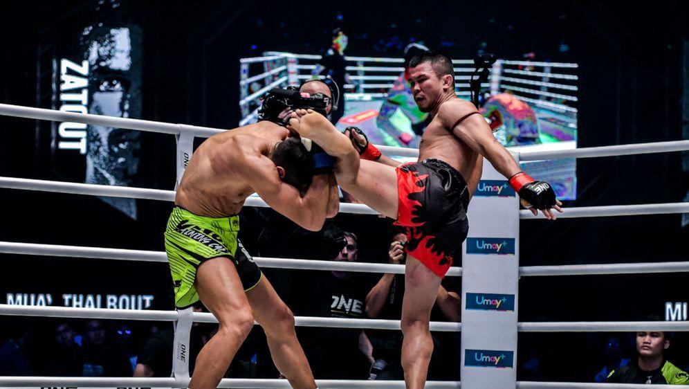 Nong-O Gaiyanghadao (re.) ist im Muay Thai der ONE-Champion im Bantamgewicht - Bildquelle: ONE Championship