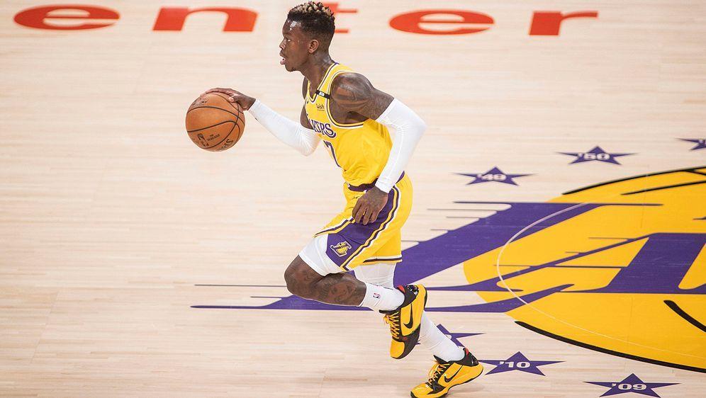 Dennis Schröder kann sich einen Verbleib bei den Los Angeles Lakers gut vors...