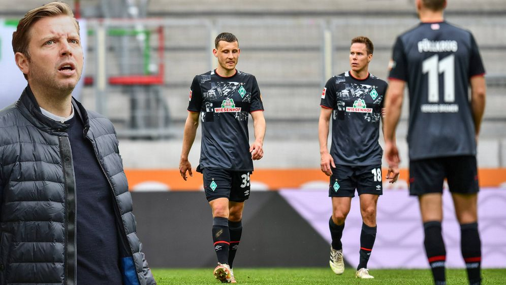 Düstere Gesichter bei Trainer Florian Kohfeldt und den Spielern des SV Werde... - Bildquelle: nordphoto GmbH / Straubmeier