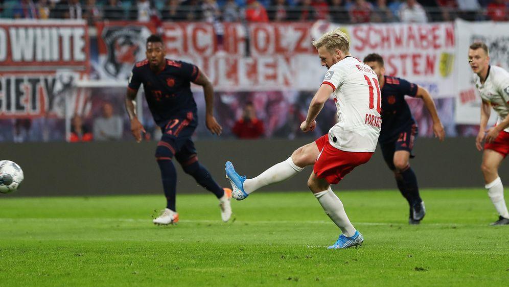 Forsberg gleicht für RB Leipzig gegen den FC Bayern aus. - Bildquelle: Getty