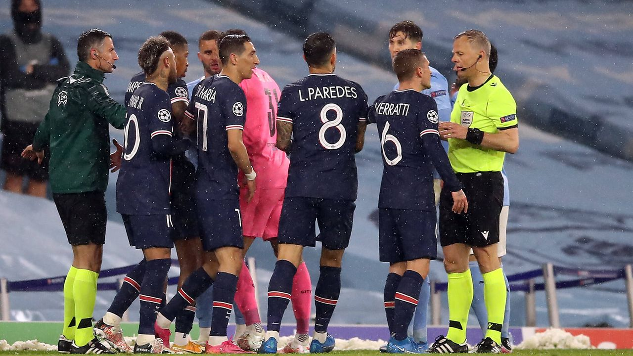 Aus gegen Manchester City: Paris St. Germain präsentiert sich als schlechter Verlierer - Bildquelle: 2021 Getty Images