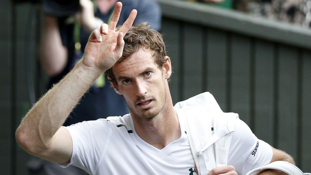 Andy Murray steht im Viertelfinale von Wimbledon - Bildquelle: AFPAFPAdrian DENNIS