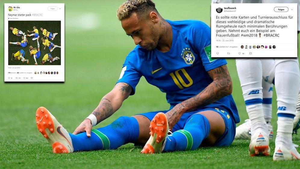Rote Karte Wm 2018.So Beschwert Sich Das Netz über Neymar