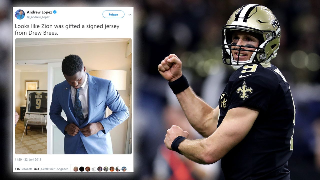 Drew Brees übergibt die Fackel an Zion Williamson - Bildquelle: Getty Images