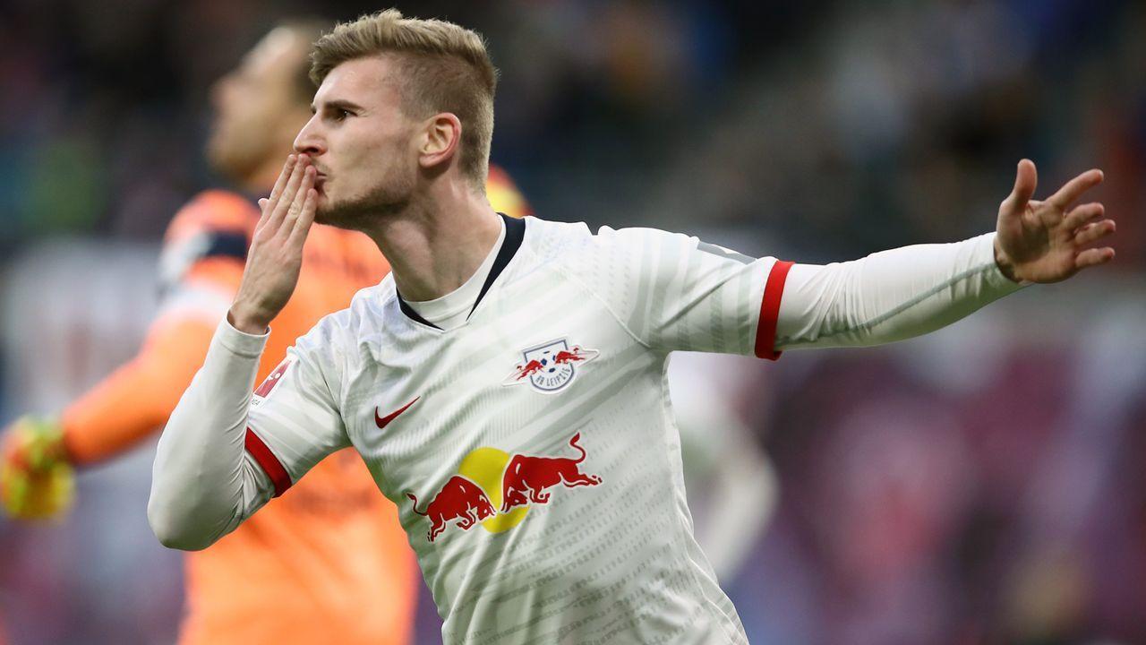 Platz 13 - Timo Werner (RB Leipzig) - Bildquelle: 2019 Getty Images