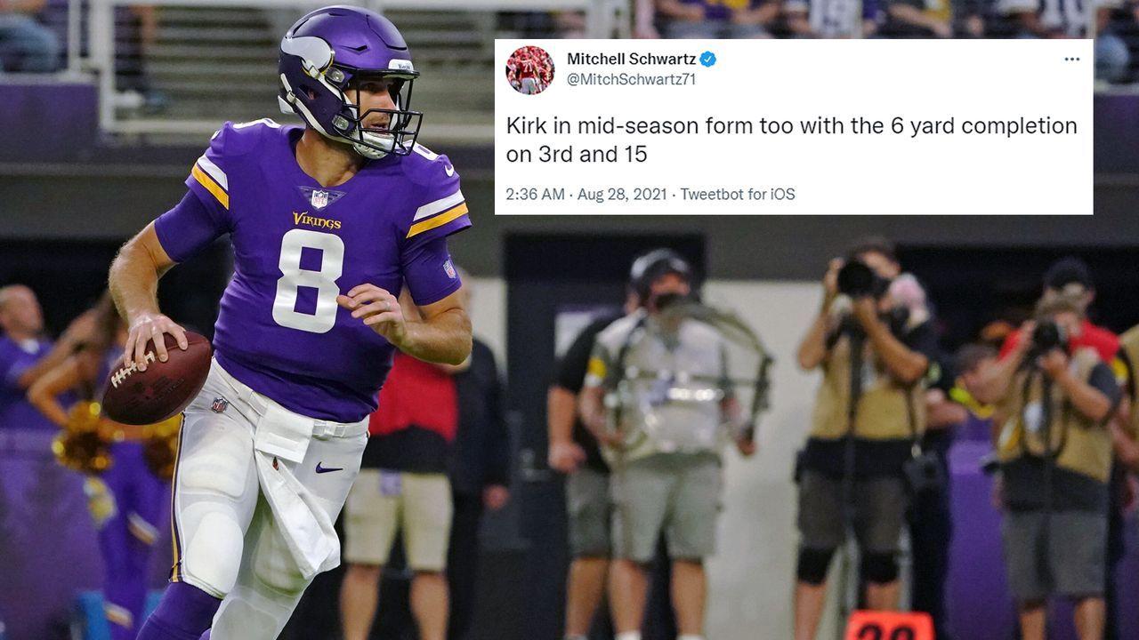 Super-Bowl-Sieger Mitchell Schwartz disst Vikings-Quarterback Kirk Cousins - Bildquelle: Imago/twitter@MitchSchwartz71
