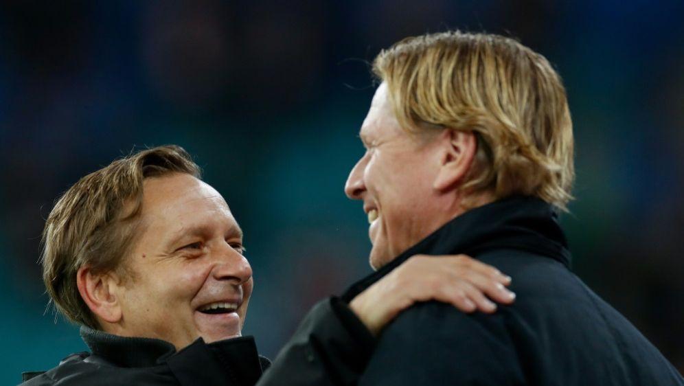 Mit Köln aus der Krise: Horst Heldt und Markus Gisdol - Bildquelle: AFPAFPOdd Andersen