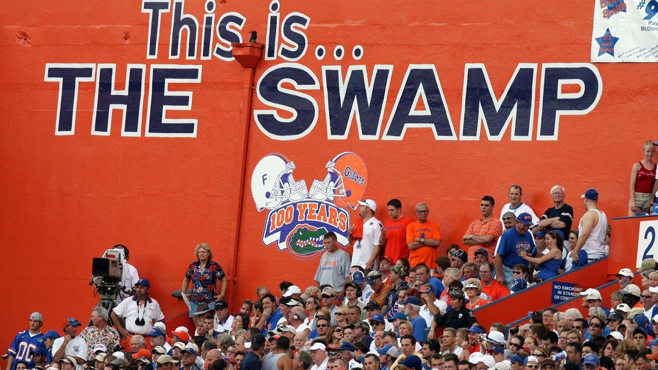 """""""The Swamp"""" Das Stadion der Florida Gators - Bildquelle: 2006 Getty Images"""