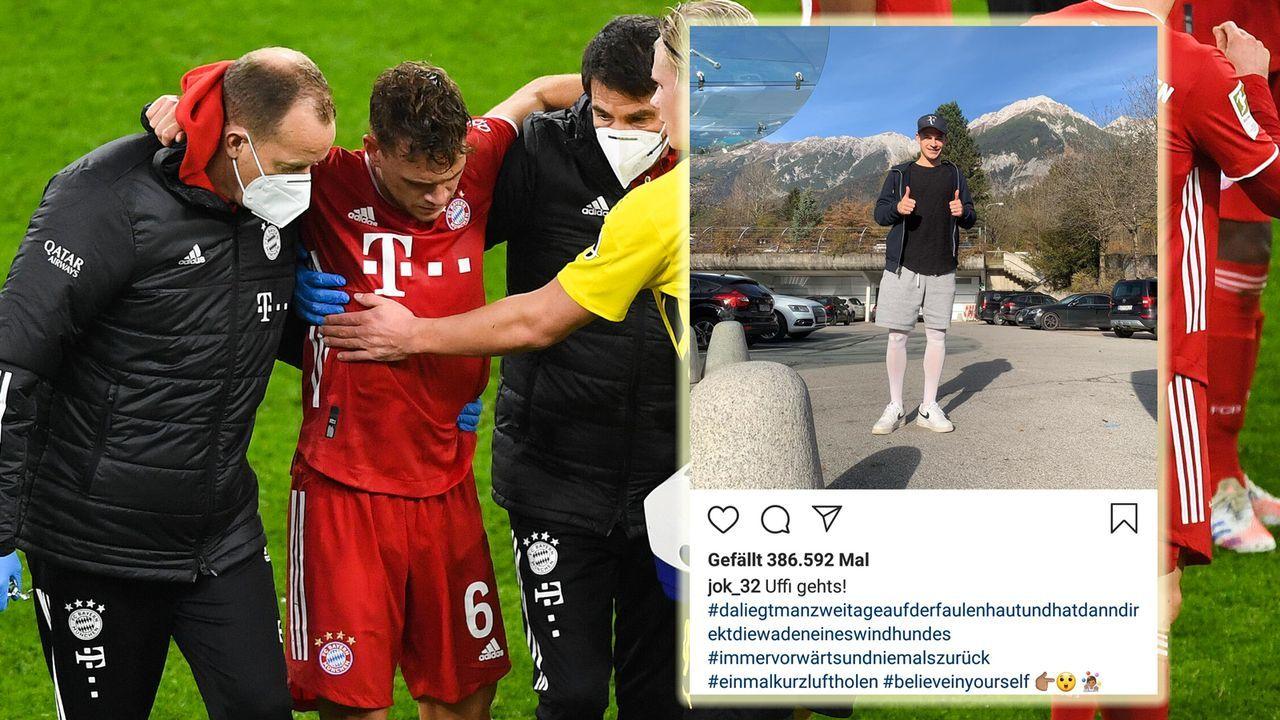 """Kimmich meldet sich nach schwerer Verletzung: """"Uffi geht's!"""" - Bildquelle: imago images / Poolfoto"""
