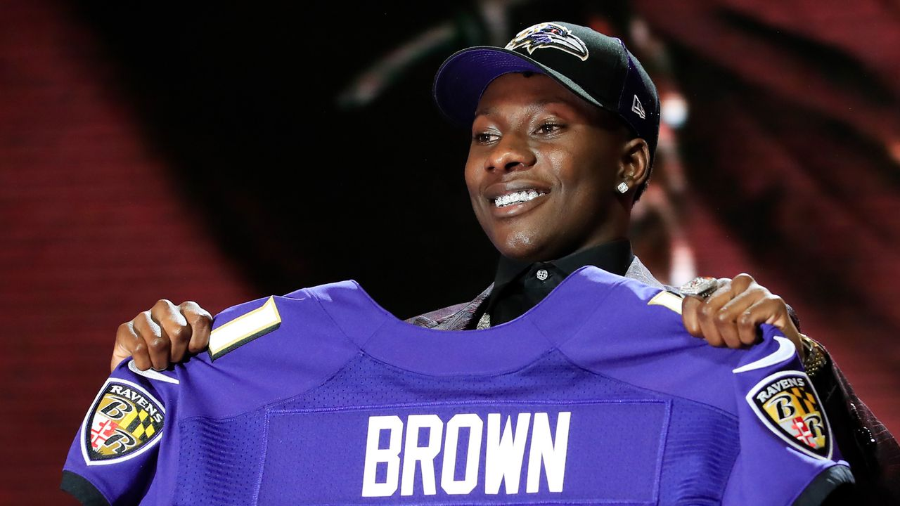 "25. Pick - Baltimore Ravens: WR Marquise ""Hollywood"" Brown (Oklahoma) - Trade mit Philadelphia Eagles - Bildquelle: 2019 Getty Images"