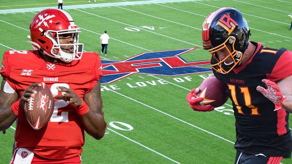 Quarterback Cardale Jones (l) von den DC Defenders und Wide Receiver Nelson ... - Bildquelle: imago images/ZUMA Press