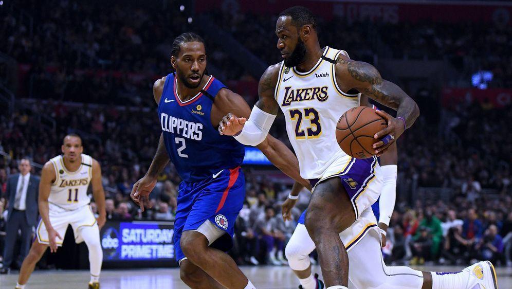 Für LeBron James und die Los Angeles Lakers soll die NBA-Saison ab dem 31. J... - Bildquelle: 2020 Getty Images