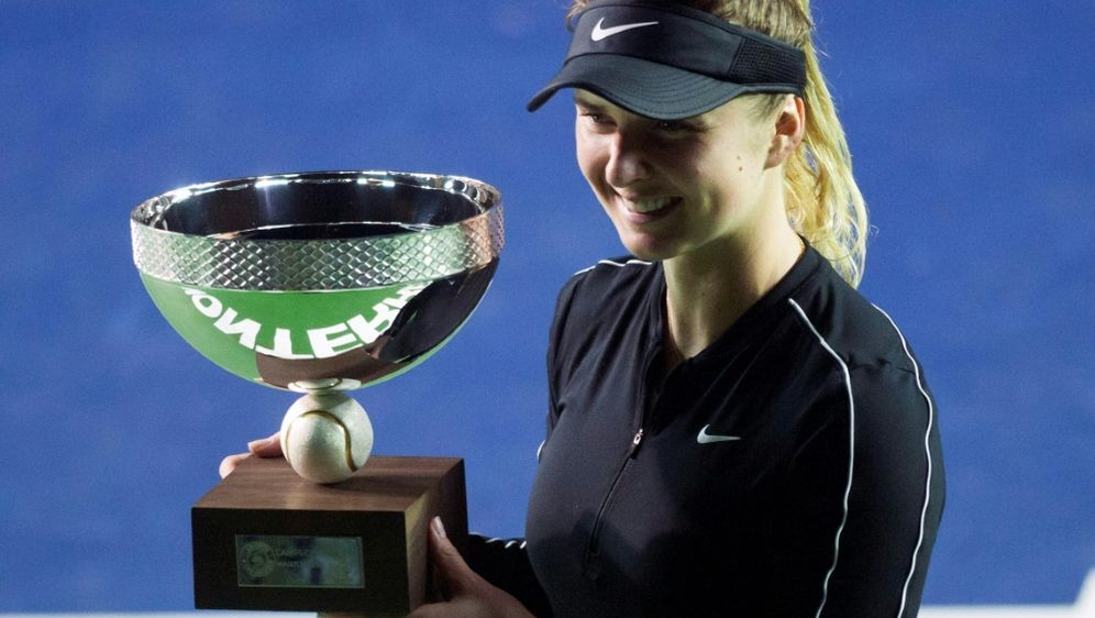 Turniersieg in Monterrey: Jelena Switolina - Bildquelle: AFPSIDJulio Cesar AGUILAR