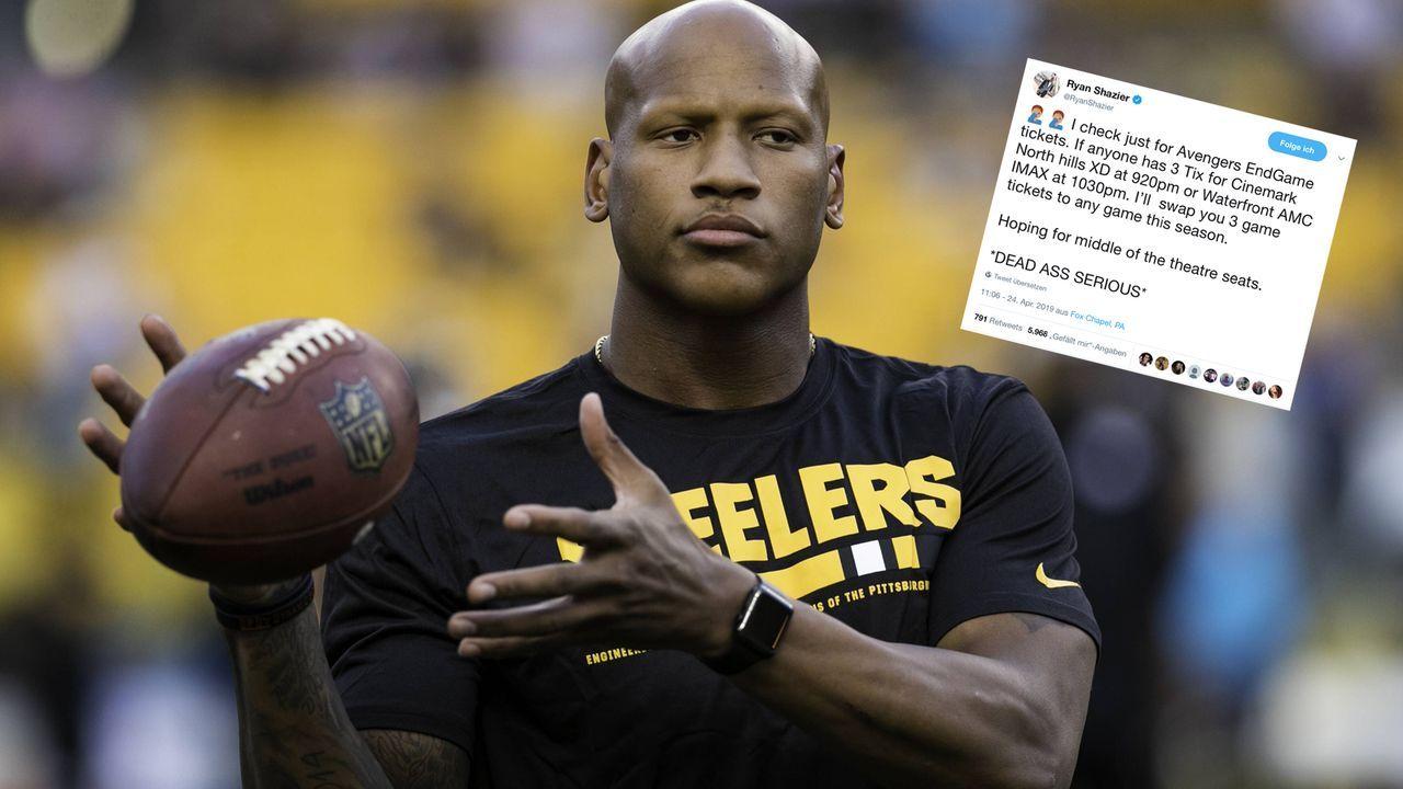 """Ryan Shazier bietet Steelers-Tickets für """"Avengers: Endgame"""" - Bildquelle: imago/Icon SMI"""