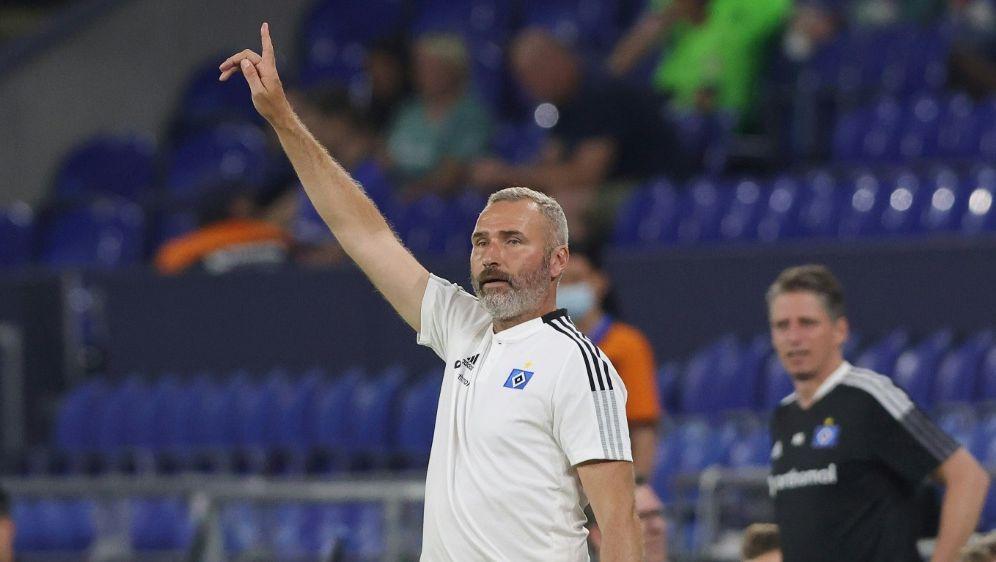 Tim Walter freut sich auf Kulisse im Volksparkstadion - Bildquelle: FIRO/FIRO/SID/