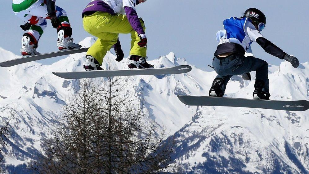 Kein Podestplatz für die Snowboardcrosser - Bildquelle: PIXATHLONPIXATHLONSID