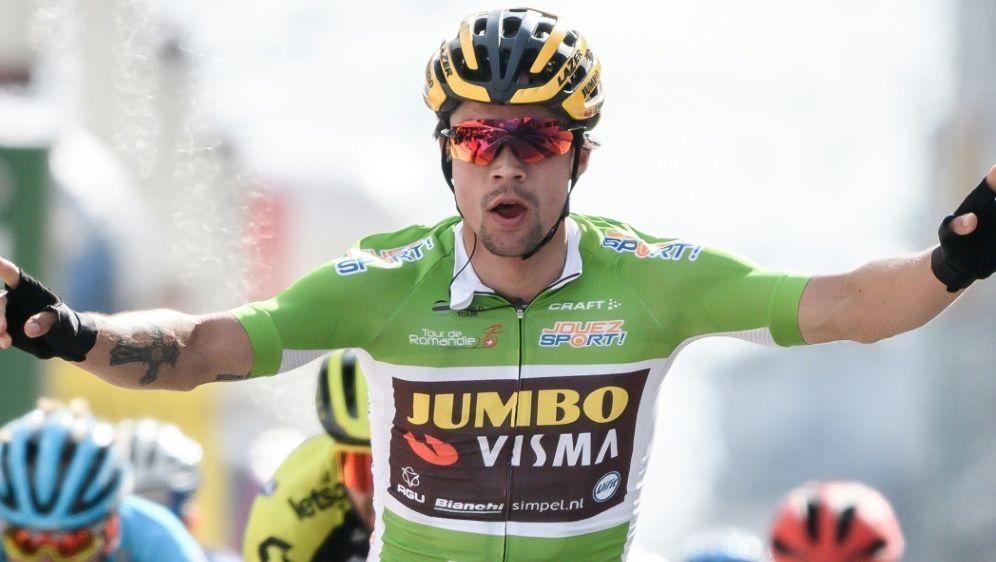 Roglic sicherte sich den Sieg auf der ersten Etappe - Bildquelle: AFPSIDFABRICE COFFRINI