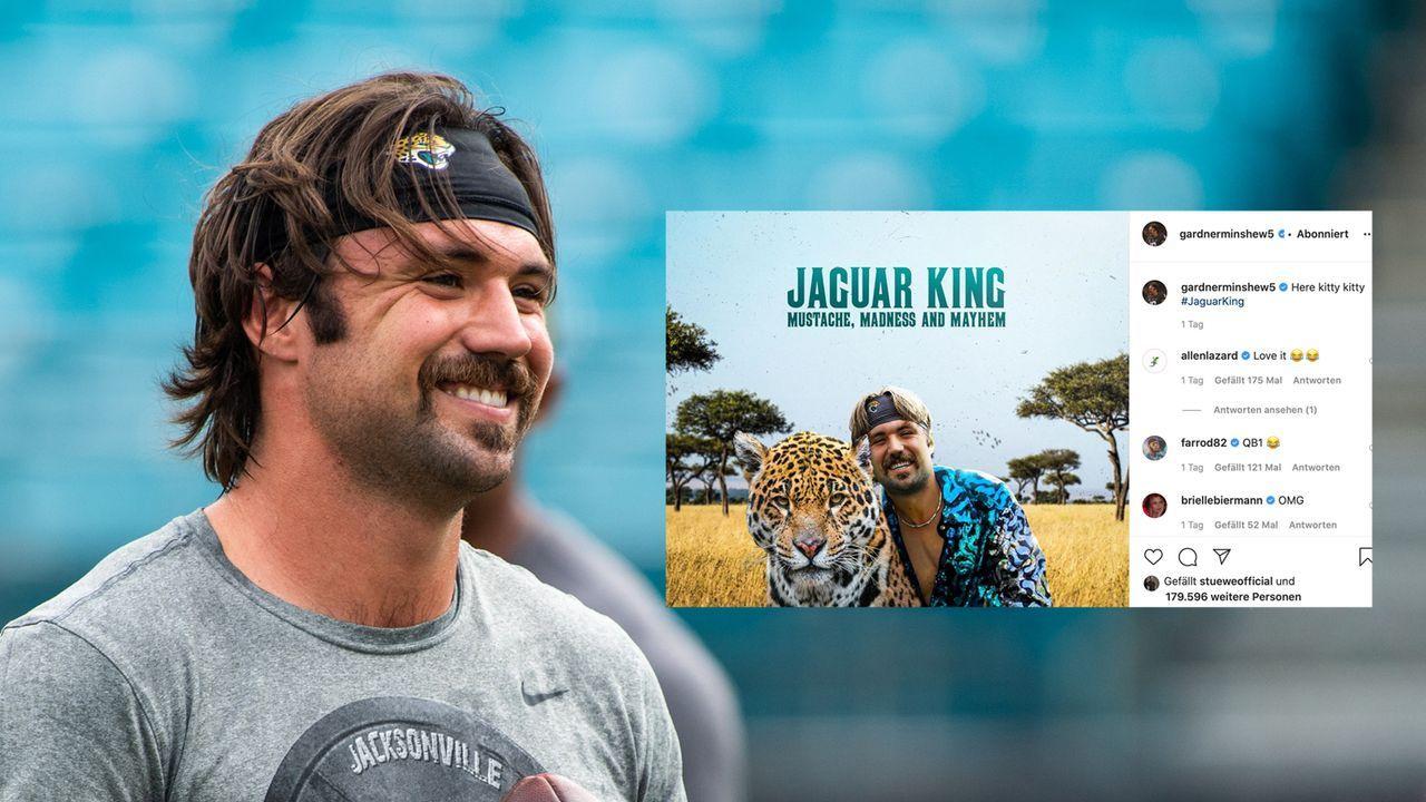 """Hommage an Netflix-Serie: Gardner Minshew als """"Jaguar King"""" - Bildquelle: imago images/ZUMA Press"""