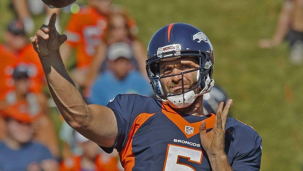 Joe Flacco wird beim Hall of Fame-Game nicht für die Broncos auflaufen. - Bildquelle: imago images
