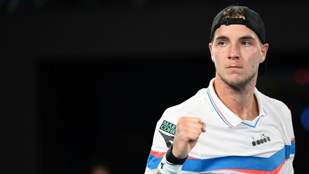 Viertelfinale im Doppel erreicht: Jan-Lennard Struff - Bildquelle: AFPAFPWilliam WEST
