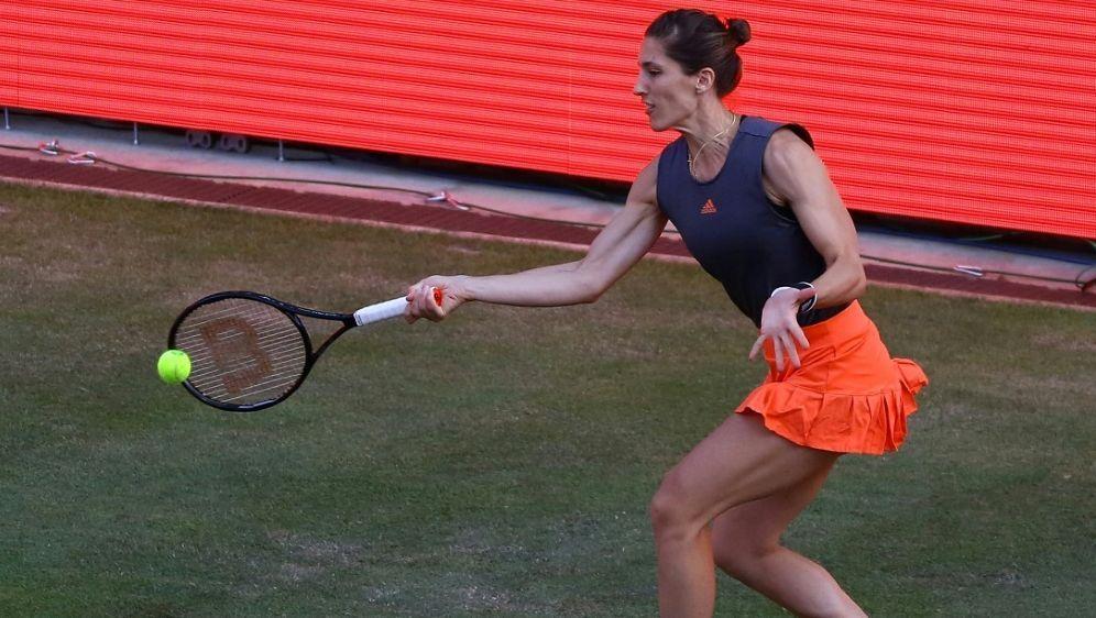 Andrea Petkovic verliert ihr Match gegen Petra Kvitova - Bildquelle: AFPSIDMICHAEL HUNDT