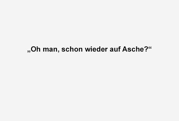 Schon wieder auf Asche? - Bildquelle: ran.de