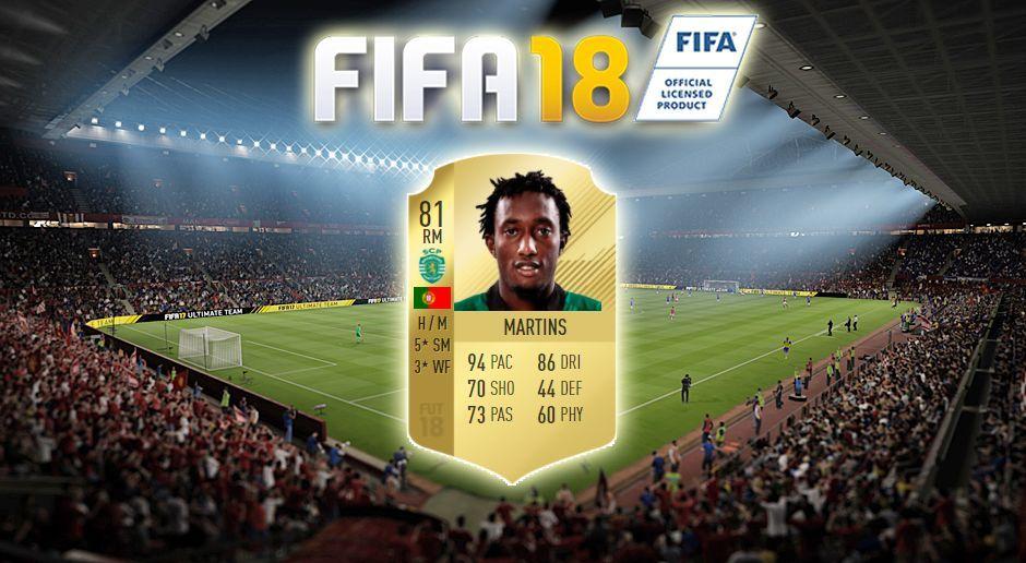 Platz 12: Gelson Martins (Sporting Lissabon) - Bildquelle: EA Sports