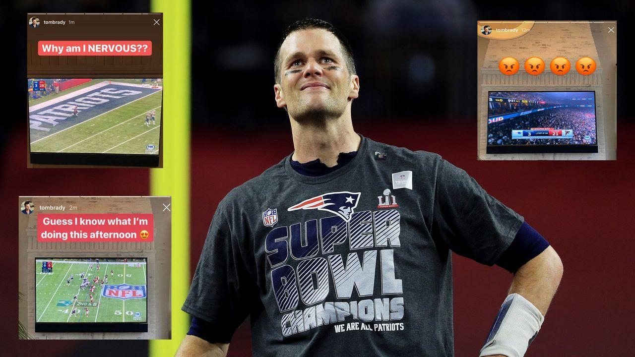 Tom Brady genießt den Super-Bowl-LI-Sieg über Falcons im Relive - Bildquelle: Getty Images, Twitter