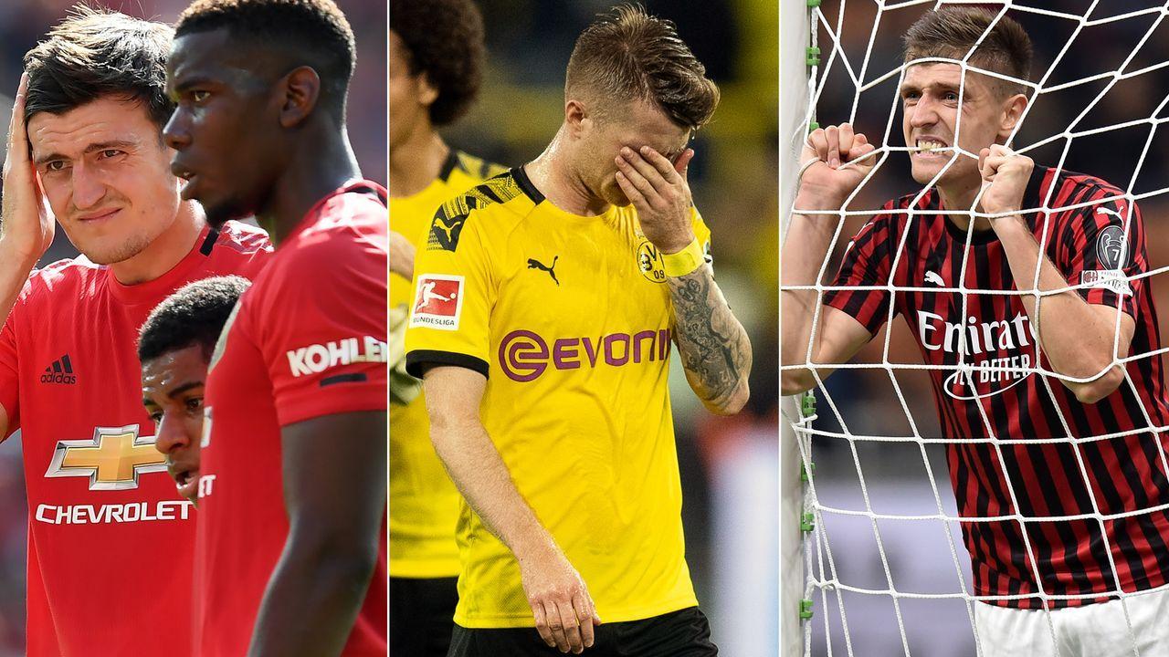 Diese europäischen Topteams hatten einen Stotterstart in die Saison 2019-20 - Bildquelle: Getty Images/Imago