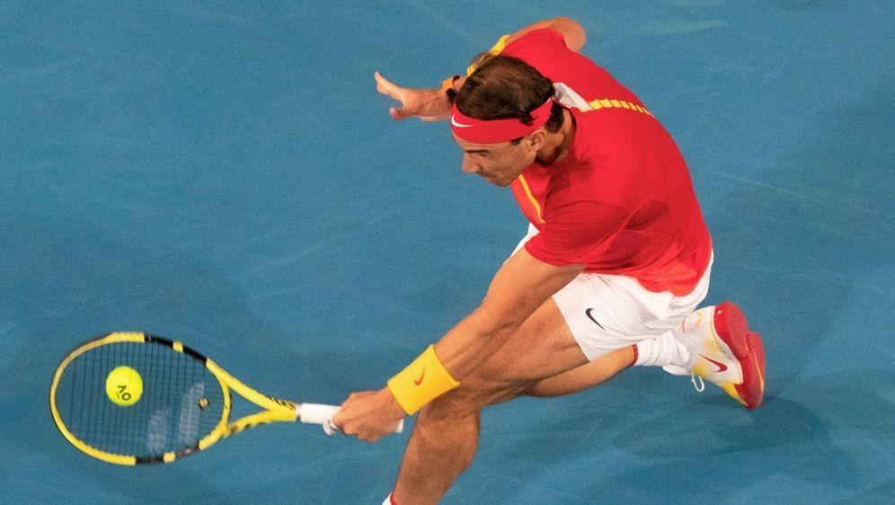 Rafael Nadal gewinnt sein Match gegen Bassilaschwili - Bildquelle: AFPSIDTONY ASHBY