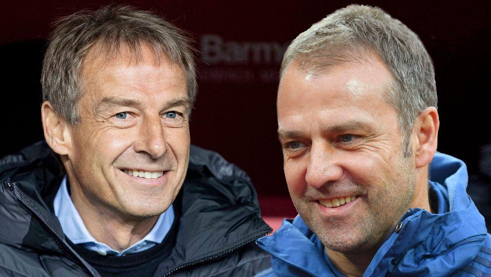 Treffen beim Rückrundenstart aufeinander: Jürgen Klinsmann und Hansi Flick. - Bildquelle: imago