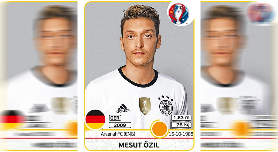 Mesut Özil - Bildquelle: Panini