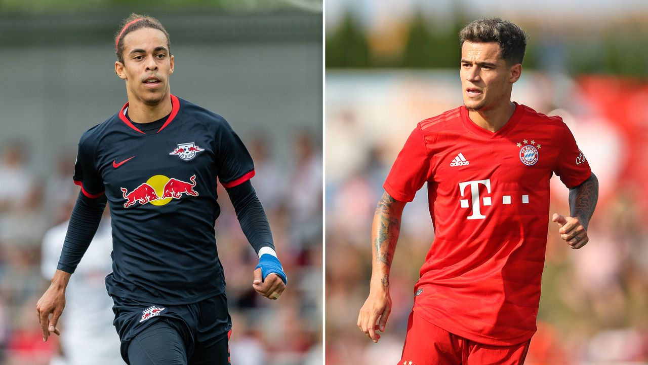 Yussuf Poulsen vs. Philippe Coutinho - Bildquelle: 2019 Getty images