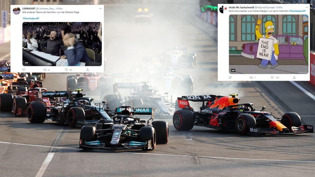 Hamilton fliegt ab - Bildquelle: Getty
