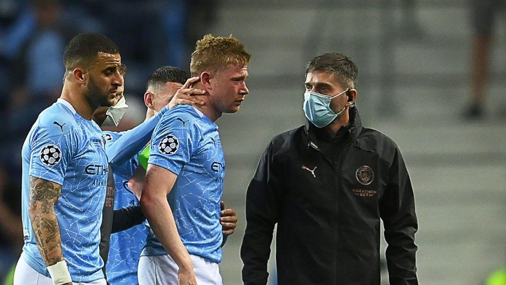 Kevin De Bruyne musste verletzt ausgewechselt werden - Bildquelle: AFPSIDDAVID RAMOS
