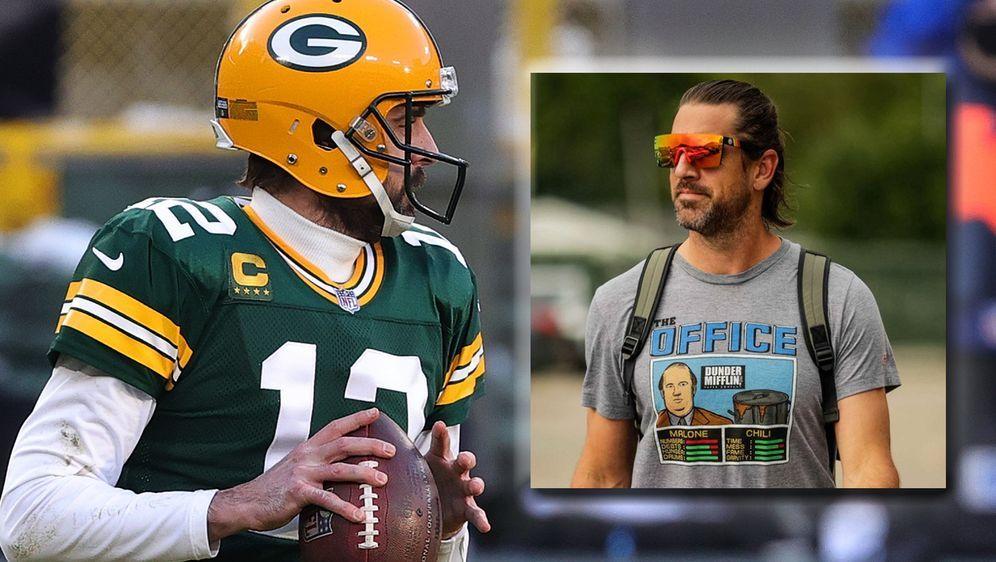 Aaron Rodgers wurde 2005 von den Packers an 24. Stelle gedraftet und spielt ... - Bildquelle: 2021 Getty Images/twitter.com/packers